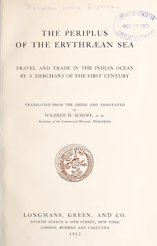 Ancient History - The Periplus of the Erythraean Sea