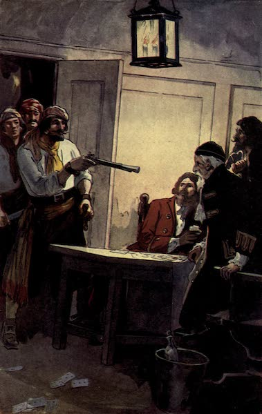 The Pirates of Panama - Pierre le Grand commanding the Spanish captain to surrender the ship (1914)