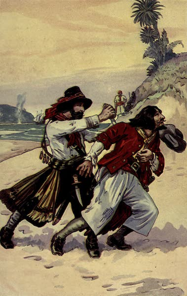 The Pirates of Panama - Being come to the place of duel, the Englishman stabbed the Frenchman in the back (1914)