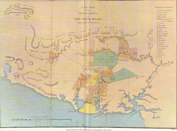 The Present Picture of New South Wales - A new plan of the settlements in New South Wales taken by order of Government, July 20th 1810 (1811)