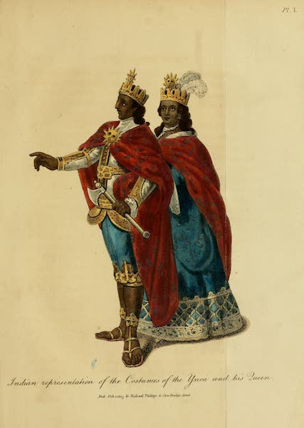 Indian representation of the Costumes of the Ynca and his Queen