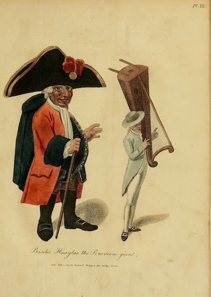 The Present State of Peru - Basilio Huaylas, the Peruvian giant (1805)