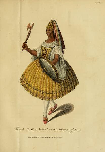 The Present State of Peru - Female Indian, habited as the Minerva of Peru (1805)