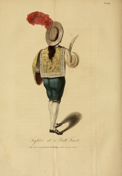 The Present State of Peru - Fighter at a Bull-Feast (1805)