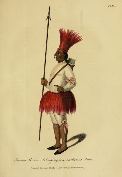 The Present State of Peru - Indian Warrior belonging to a barbarous Tribe (1805)
