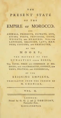 The Present State of the Empire of Morocco Vol. 2 (1788)