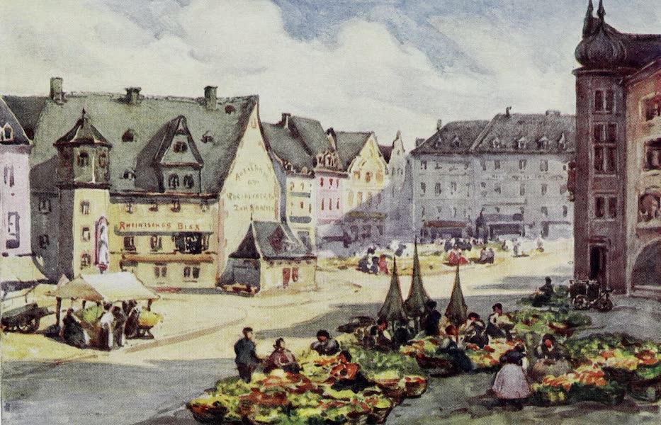 The Rhine - The Market Place, Mainz (Mayence) (1908)