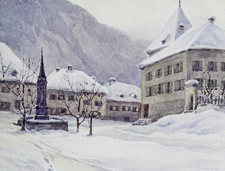 The Rhine - Chur (Coire) : The Cathedral Square (1908)