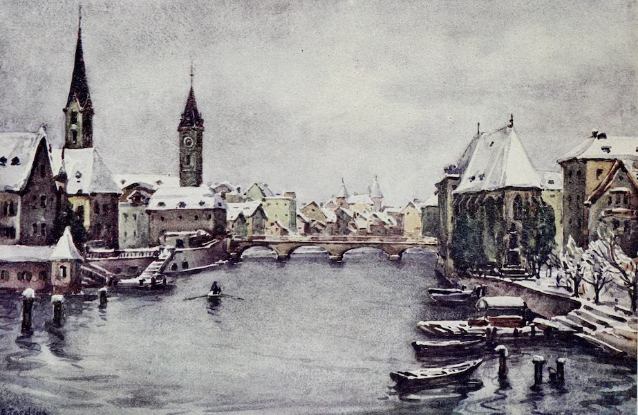 The Rhine - The River at Zurich: Winter (1908)