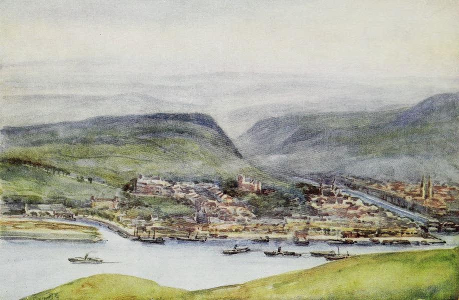 The Rhine - Bingen, from the Germania Denkmal (1908)