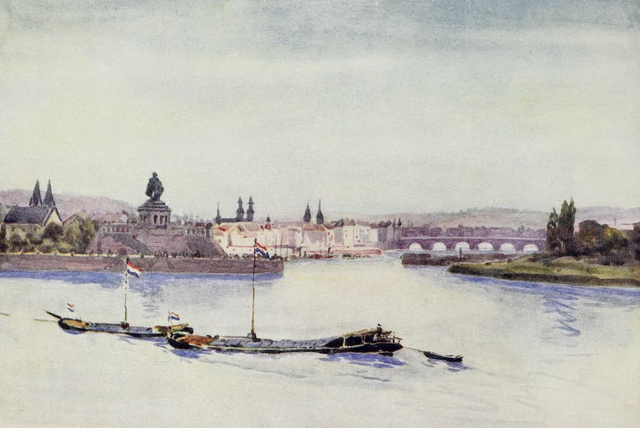 The Rhine - Confluence of Rhine and Moselle (1908)