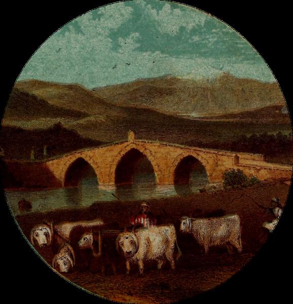 The River Jordan : Pictorial and Descriptive - Jacob's Bridge over the Jordan (1858)