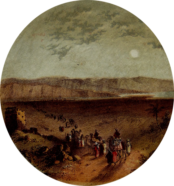 The River Jordan : Pictorial and Descriptive - Entrance of the Jordan into the Dead Sea (1858)