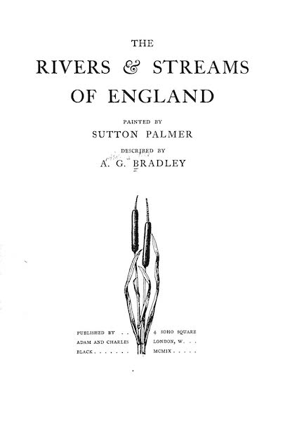 The Rivers and Streams of England Painted and Described - Title Page (1909)