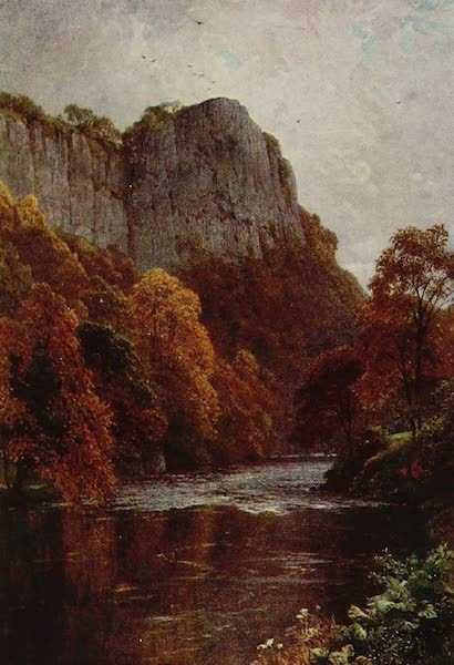 The Rivers and Streams of England Painted and Described - The Derwent, High Tor, Matlock (1909)