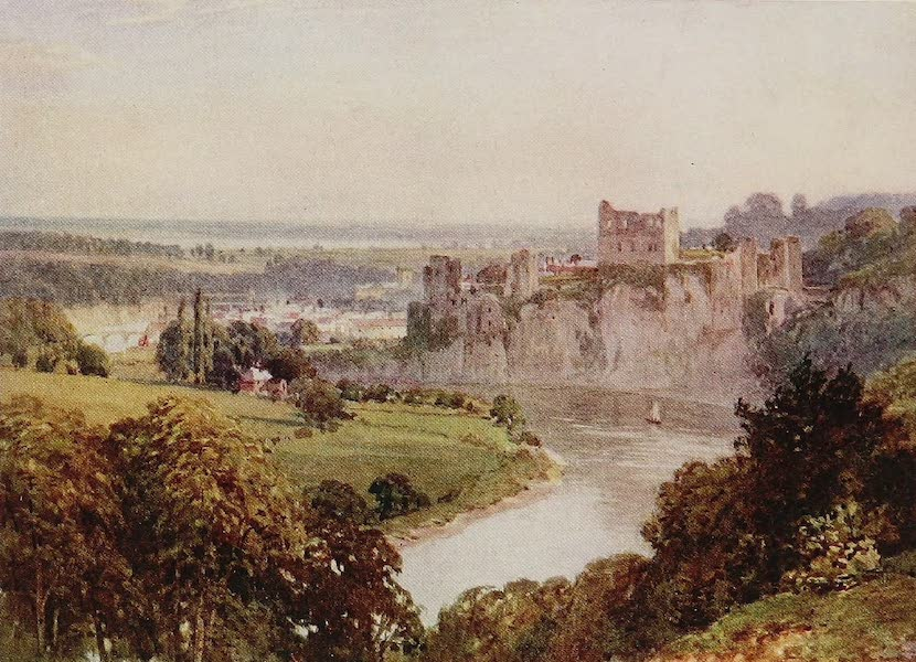 The Rivers and Streams of England Painted and Described - Chepstow with Wye and Severn (1909)
