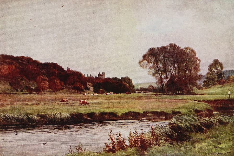 The Rivers and Streams of England Painted and Described - The Wye, Haddon Hall, Derbyshire (1909)