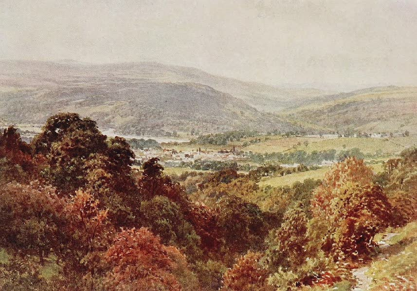 The Rivers and Streams of England Painted and Described - The Wye, Hay, Breconshire (1909)
