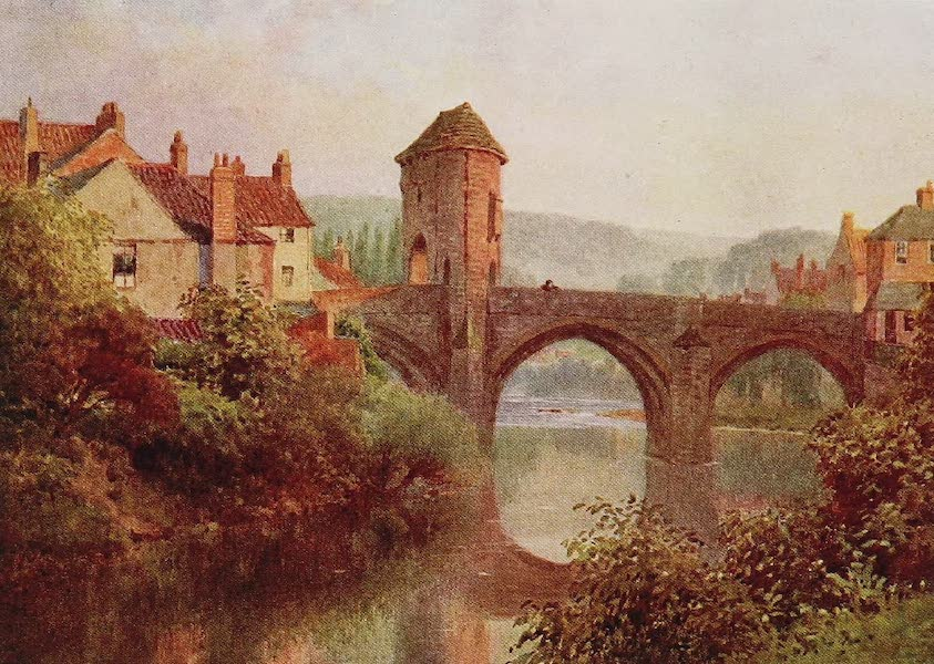 The Rivers and Streams of England Painted and Described - The Monnow, Old Bridge, Monmouth (1909)