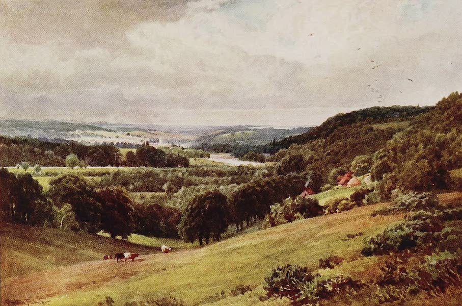 The Rivers and Streams of England Painted and Described - The Thames, looking towards Henley (1909)