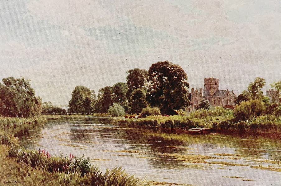 The Rivers and Streams of England Painted and Described - The Itchen, St. Cross, Winchester (1909)