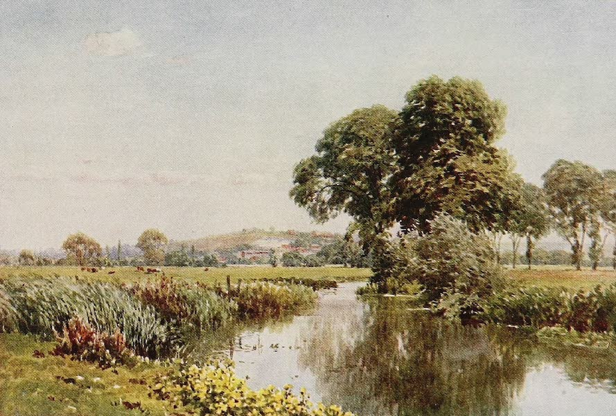 The Rivers and Streams of England Painted and Described - The Itchen, and St. Giles' Hill, Winchester (1909)