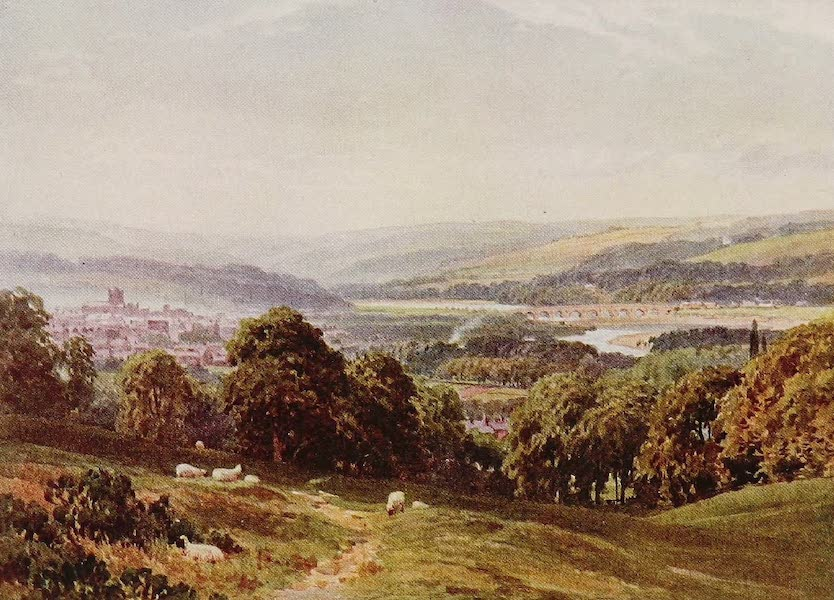 The Rivers and Streams of England Painted and Described - The Tyne, Hexham, Northumberland (1909)