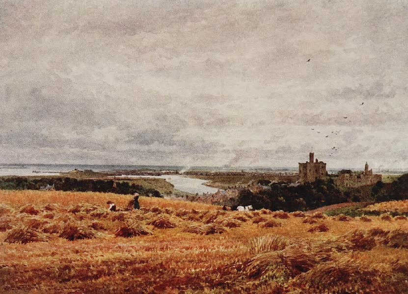 The Rivers and Streams of England Painted and Described - The Coquet, and Warkworth Castle, Northumberland (1909)