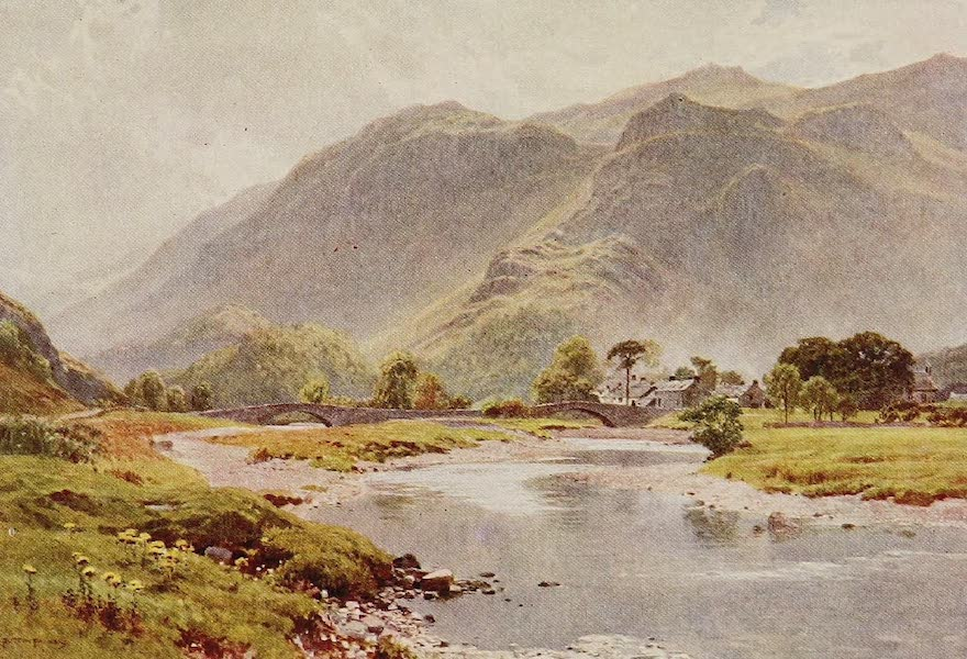 The Rivers and Streams of England Painted and Described - The Derwent, Grange, Borrowdale (1909)