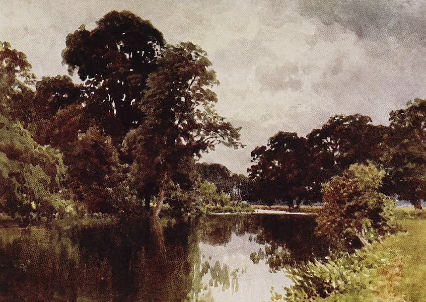 The Rivers and Streams of England Painted and Described - The Thames, Backwater by the Islands, Henley (1909)