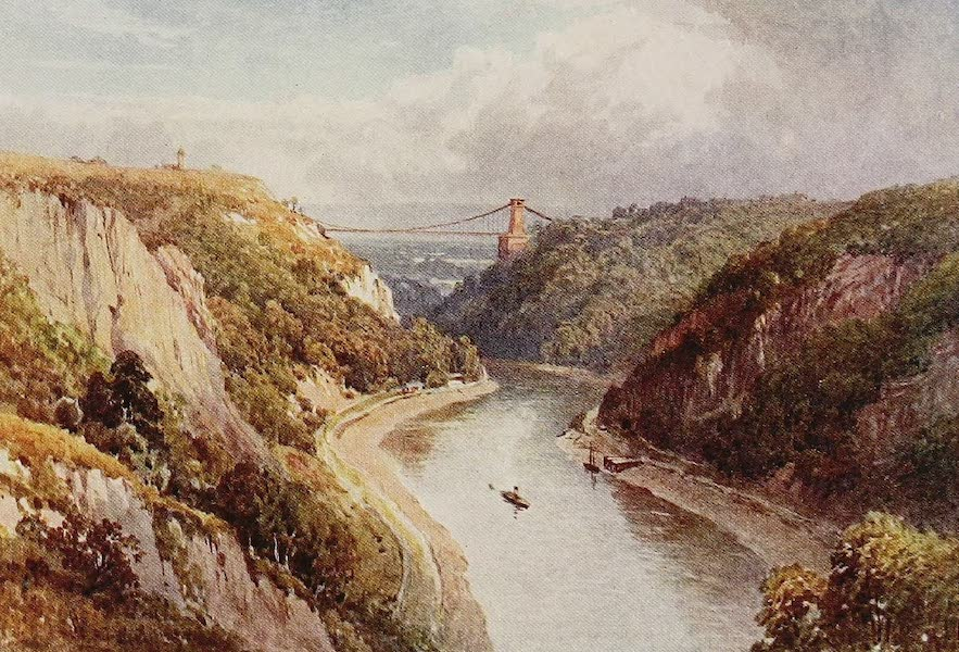 The Rivers and Streams of England Painted and Described - The Avon at Clifton (1909)