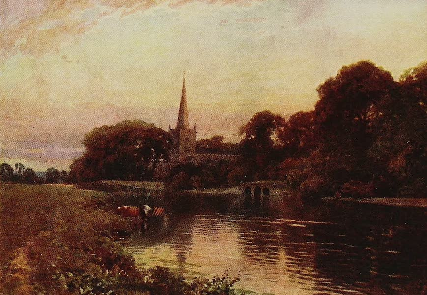 The Rivers and Streams of England Painted and Described - The Avon, Stratford, Warwickshire (1909)