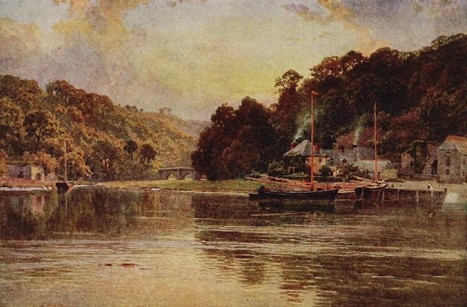 The Rivers and Streams of England Painted and Described - The Tamar, Cotehele, Cornwall (1909)