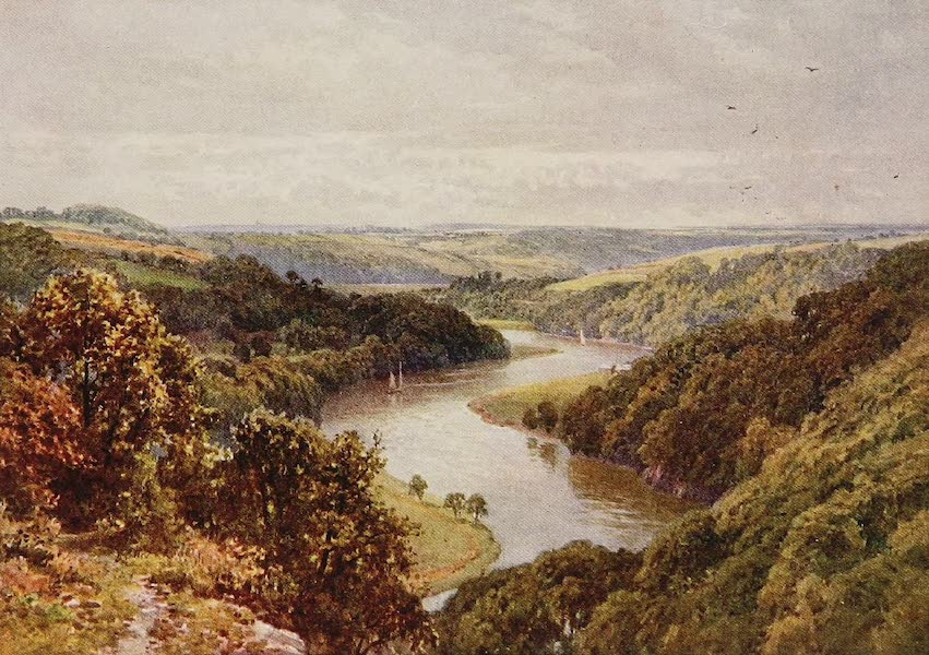 The Rivers and Streams of England Painted and Described - The Tamar, near Calstock, Cornwall (1909)
