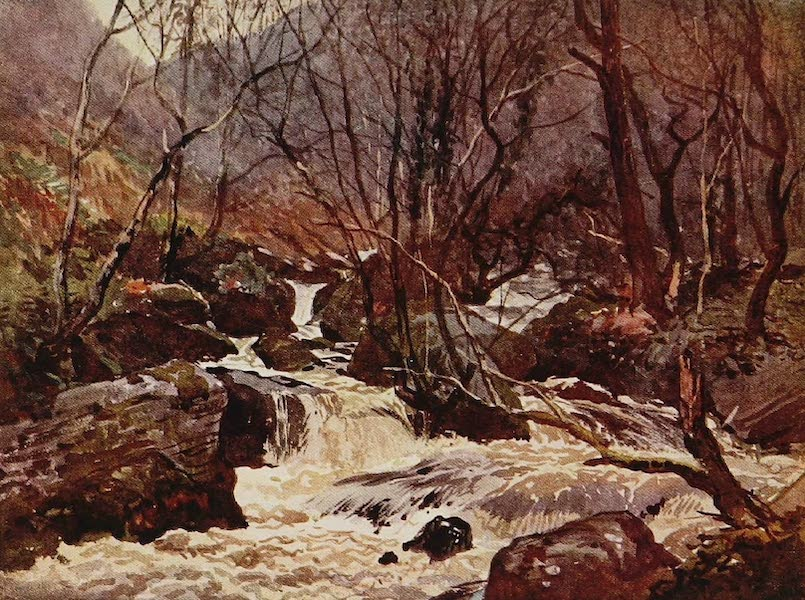 The Rivers and Streams of England Painted and Described - On the West Lynn, Lynmouth, Devon (1909)