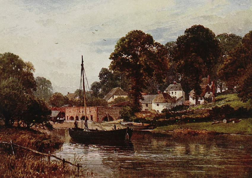 The Rivers and Streams of England Painted and Described - The Exe, Countess Weir, Devon (1909)