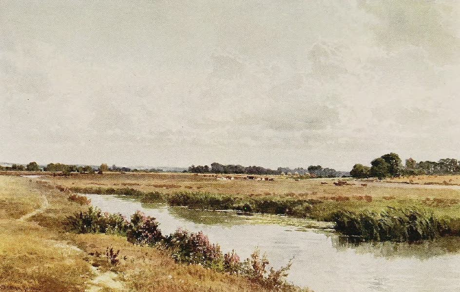 The Rivers and Streams of England Painted and Described - The Ouse, near Lewes, Sussex (1909)