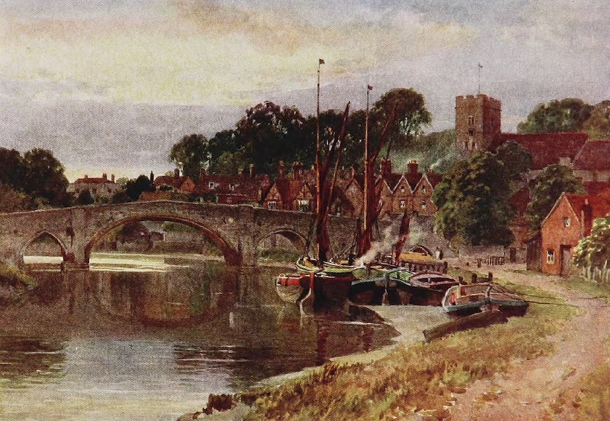 The Rivers and Streams of England Painted and Described - The Medway, Aylesford, Kent (1909)