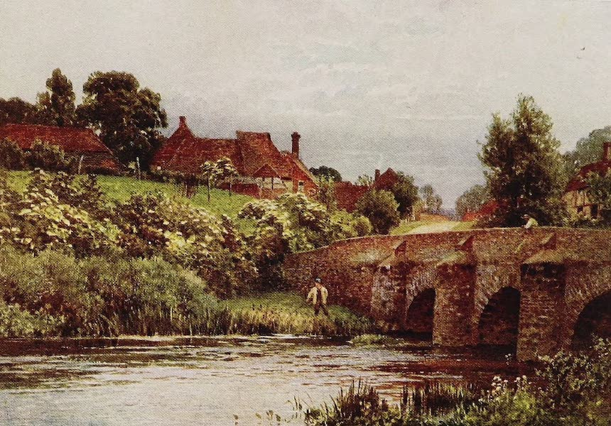 The Rivers and Streams of England Painted and Described - The Wey, Elstead, Surrey (1909)