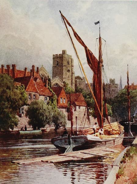 The Rivers and Streams of England Painted and Described - The Medway, Maidstone, Kent (1909)