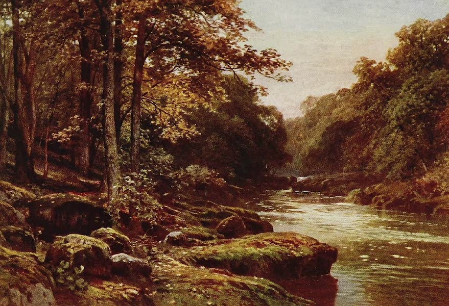 The Rivers and Streams of England Painted and Described - The Wharfe, the Strid, Yorkshire (1909)