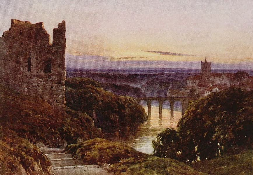 The Rivers and Streams of England Painted and Described - The Nidd, Knaresborough, Yorkshire (1909)
