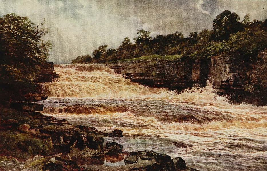 The Rivers and Streams of England Painted and Described - The Ure, Aysgarth Force, Yorkshire (1909)
