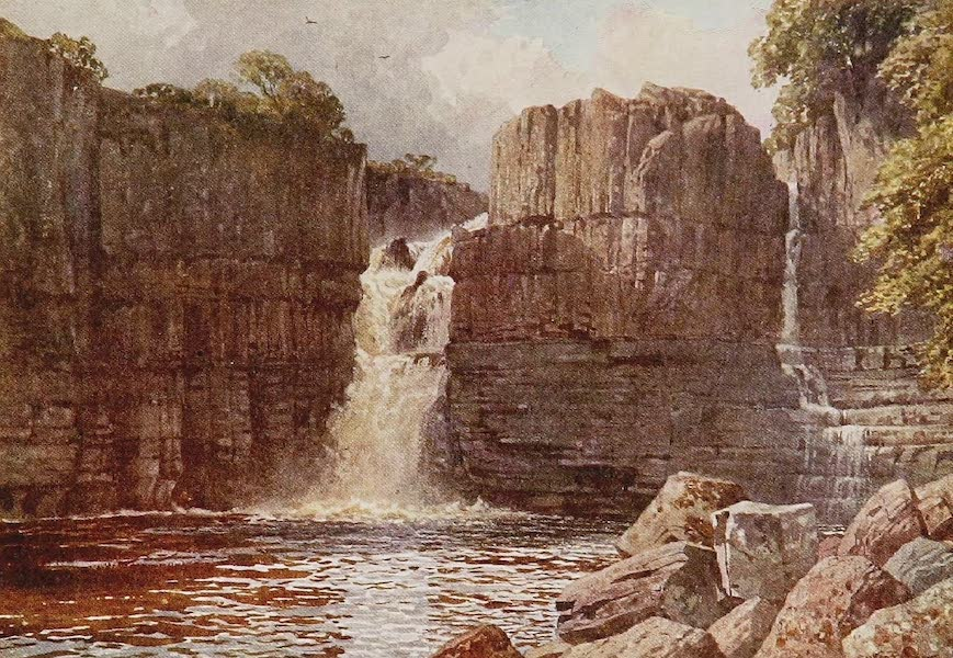 The Rivers and Streams of England Painted and Described - High Force, Tees, Yorkshire (1909)