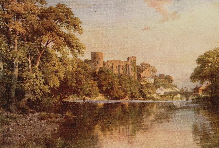The Rivers and Streams of England Painted and Described - The Tees, Barnard Castle, Durham (1909)