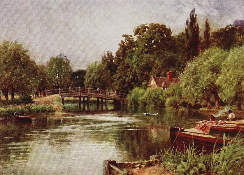The Rivers and Streams of England Painted and Described - The Stour, Bergholt, Suffolk (1909)