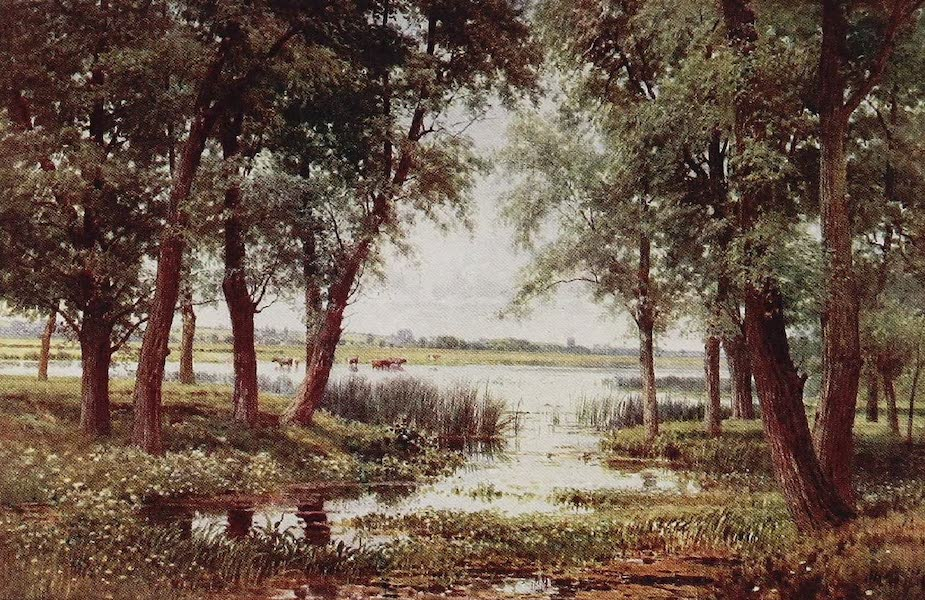 The Rivers and Streams of England Painted and Described - The Ouse, Houghton Mill, Huntingdonshire (1909)