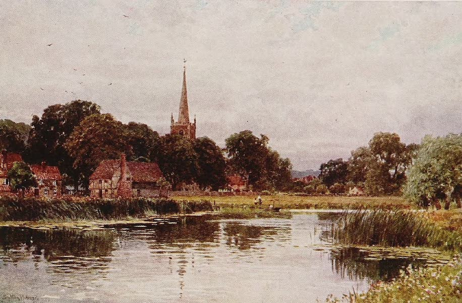 The Rivers and Streams of England Painted and Described - The Ouse, Hemingford Abbots, Huntingdonshire (1909)