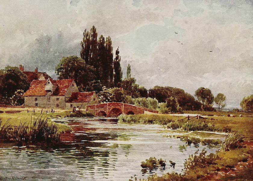 The Rivers and Streams of England Painted and Described - The Stour, near Dedham, Essex (1909)