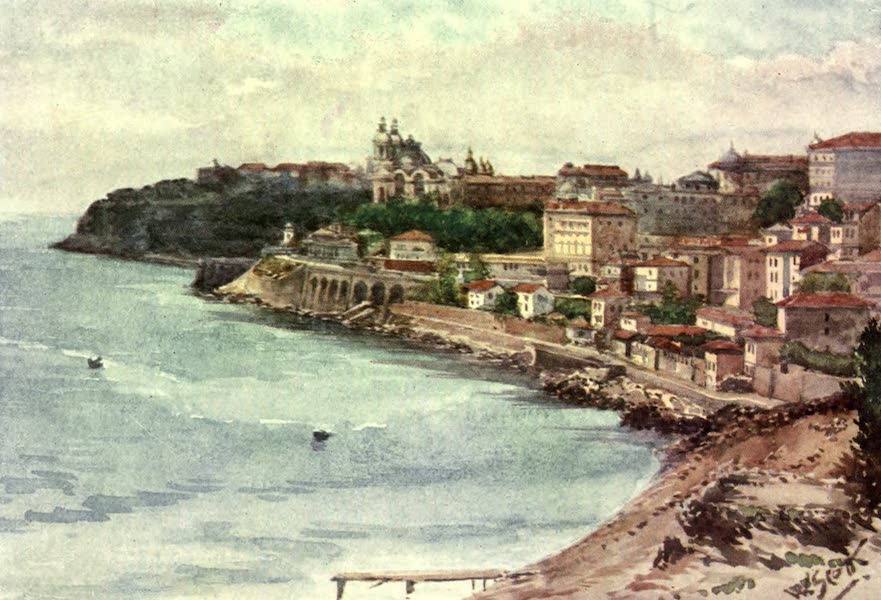 The Riviera Painted & Described - Monte Carlo from the East (1907)